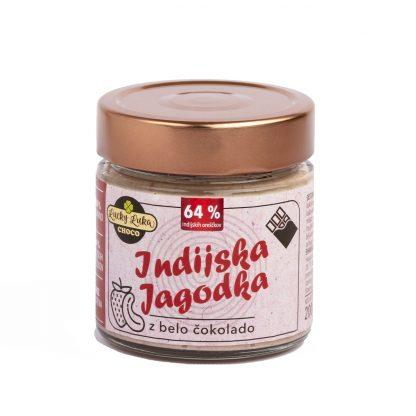 Indijska jagodka z belo čokolado